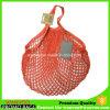 Red Reusable Woven String Cotton Shopping Bag