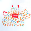 100%Cotton Printed Kids Kitchen Cooking Work Apron