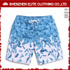 High Quality Competitve Price Polyester Swimming Shorts Blue (ELTBSI-3)