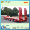 4 Axles Lowbed Excavator Transport Semi Truck Traileri with Hydraulic Ladders