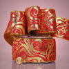 Baroque Tapestry Style Wired Fabric Ribbon