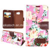 Flower Card Slot Leather Case for Samsung Galaxy S6