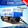 2 Axles Side Wall Open Cargo Draw Bar Full Trailer