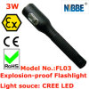 3W IP68 LED Explosion Proof Rechargeable Flashlight