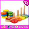 2015 New Arrival Montessori Teaching Toys, Educational Toy Wooden Stacking Toy, Cheap Stacking Baby Brain Development Toys W13D063