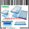 Clear Transparent Plastic Folding Plastic Crate Box