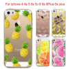 Hot Fruit Soft Silicon Transparent Case Cover for iPhone