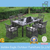 Dining Set with SGS PE Rattan& Tempered Glass