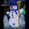 PVC Grass Christmas Snowman for Christmas Party with Blue Color