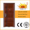 Iron Grill Door Designs Metal Door Skin China Steel Door Low Prices (SC-S049)