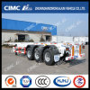 Cimc Huajun 3axle 40FT Skeleton Trailer with Single Tire