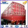 3 Axles Flatbed Side Wall Stake Semi Trailer for Livestocks
