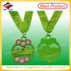 Promotion Dance Medals with Neck Ribbon Classic Music Medal with Tape Zinc Alloy Die Casting Painted Flower Medal with Neck Lanyard (LZY-00020130016)