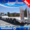 China Manufacturer 80t 4 Axles Low Bed / Lowboy Low Loader Semi Truck Trailer for Sale