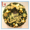 Christmas Door Decoration Pendant 40-60cm Wreath with Merry Christmas Letter Christmas Garland
