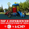 2017 Hot Cheap Plastic Playground Slides Equipment for Children (HD14-080D)