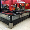 China Manufacture Fridge Top Glass Flat Island Freezer Display Showcase
