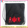 Custom High Quality Pure Color Double-Layer Polyester Backpack, Drawstring Bag