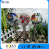 Solar Stainless Steel Glass Ball Light/ Crackle Glass Ball Color Painting Solar Light