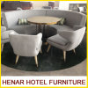 Modern Wood Leg Gray Fabric Half Moon Sectional Sofa Hotel Lobby Furniture