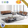 Hot Sale Office Furniture Teak PU Leather Sofa (HX-CS096)