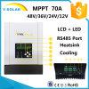 MPPT 70A 12V/24V/36V/48V 60~150VDC RS485-Port Solar Charge Charger Controller