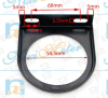 Auto Oil Pressure Meter of Black Background