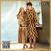 100% Cotton Couple Bathrobe, Stripe Couple Bathrobe