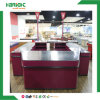 Supermarket Electrical Double Sided Checkout Counter with Conveyor Belt