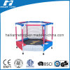 Colourful Hexagonal Trampoline with Enclosure for Kids