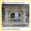 Beige Travertine Stone Marble Fireplace Mantel