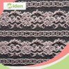 Pink Color Nylon Net Lace Chantilly Lace Fabric