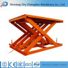 Workshop Used Stationary Hydraulic Scissor Lift for Cargo Lifting