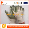 Ddsafety 2017 Beige Nylon with Green Nitrile Glove