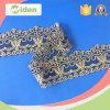 Swiss Voile Lace in Switzerland Gold Silk Yarn Embroidery Lace