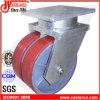 12 Inch Red Polyurethane Extra Heavy Duty Swivel Caster