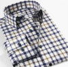 Mens Cotton Yarn Dyed Checks Long Sleeve Shirt