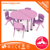 Movable Dining Table Chair Half Round Table for Kids