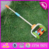 2015 Hot New Wooden Hand Push Cart Toy for Kids, Classic Cartoon Cart Wooden Push Toy, Baby Favorite Wooden Push Cart Toy W05A010