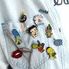Silver-Tone Punk Enamel Cartoon Character Custom Fashion Pins & Brooches
