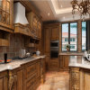 Marble Stone Countertop Base Cabinets with Oak Solid Wood Door