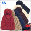 2015 Fashion POM POM Knitted Acrylic Beanie Hats