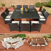 Tables and Bar Stools Leisure Rattan Wicker Table Garden Furniture Sets Z572