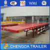 Container Semi Trailer, 3 Axle 40FT Flatbed Container Transport Trailer