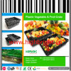 Supermarket Stackable Plastic Vegetable and Fruit Transport Crate