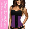 Newest Steel Bones Latex Waist Training Corset