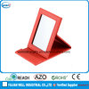 Red PU Leather Desktop Standing Mirror for Cosmetic