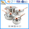 18/10 Stainless Steel 8 PCS Cookware Set with Copper-Colored Handle (CX-SS0802)