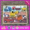 2016 Wholesale Wood Car Puzzle for Toddlers, Shape Learning Wooden Car Puzzle for Toddlers, Best Car Puzzle for Toddlers W14D020