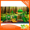 Kid Plastic Double Slide Tree House Outdoor Plastic Playground for Sale